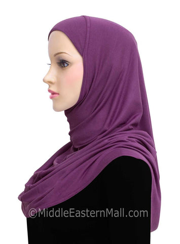 Wholesale Set of 18 Khatib Cotton Hijab 1 piece Standard Length in 18 Colors