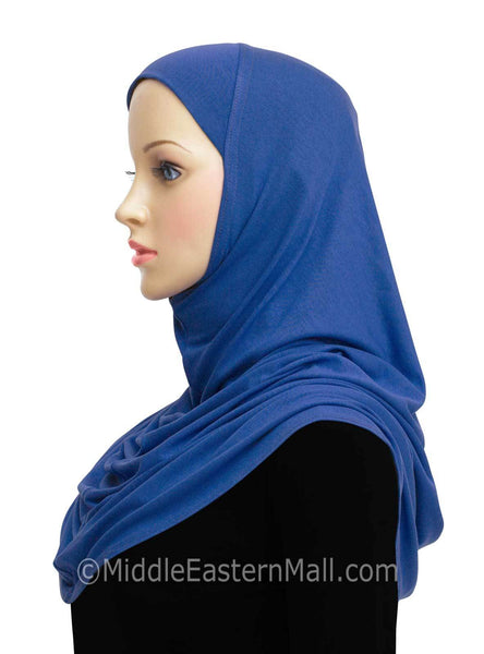Royal Blue Cotton 1 piece Amira Hijab