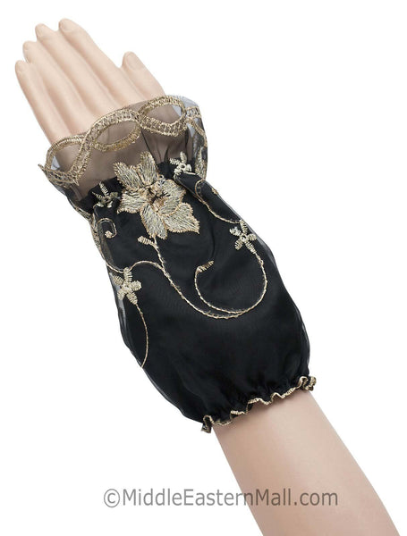 Wholesale Set of 6 Arm Sleeves with Floral Embroidery
