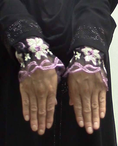Arm Cuffs with Floral Embroidery