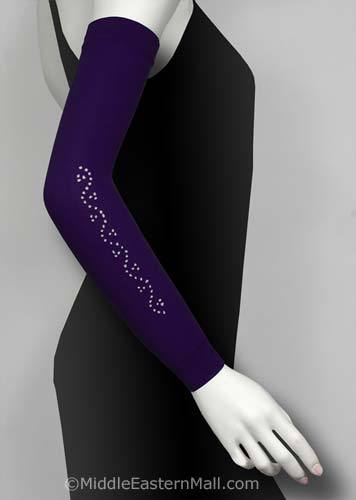 Poly Arm Sleeves with Rhinestones