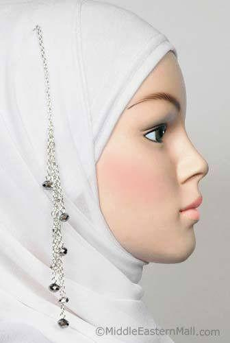 Cascade Hijab Pin in #13 Silver/Gray