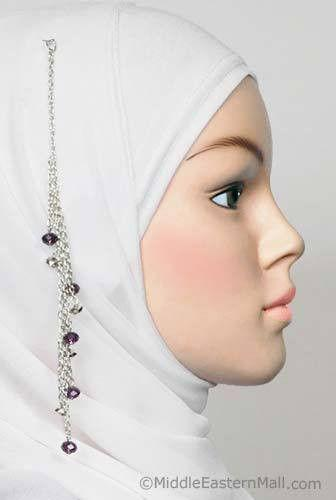 purple hijab pin