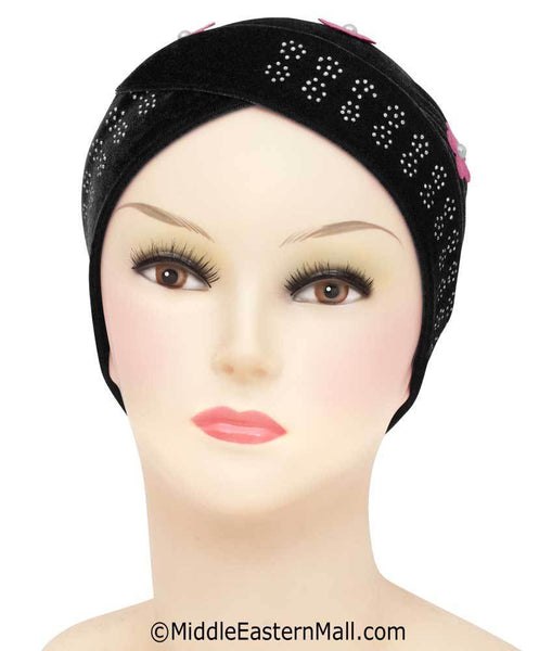 Velvet Venetian Turban Hijab Caps Available in 6 Colors