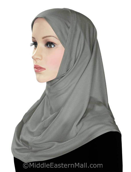 Wholesale 1 Dozen Classic COTTON 2 piece Amira Hijabs Cool Tones