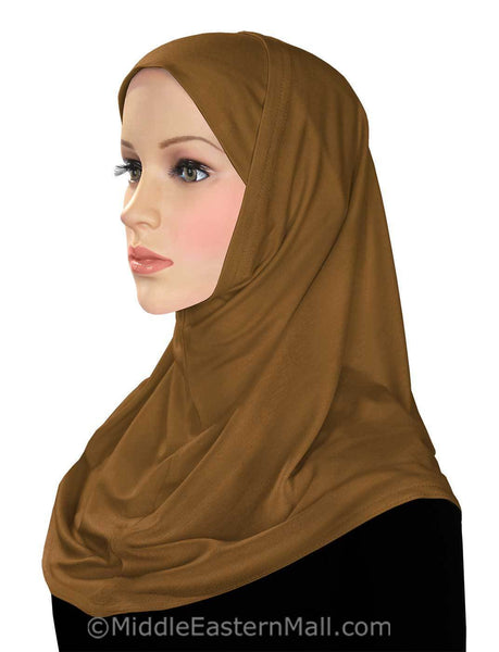 Wholesale 1 Dozen Classic COTTON 2 piece Amira Hijabs Warm Tones