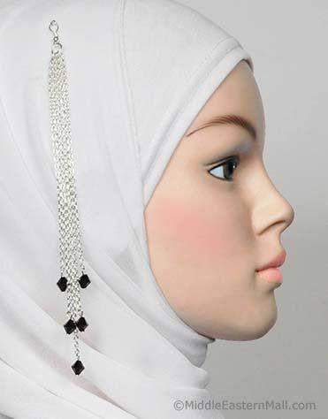 Finesse Hijab Pin # 14 in Black - MiddleEasternMall