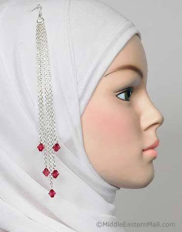 Finesse Hijab Pin # 10 in Burgundy - MiddleEasternMall