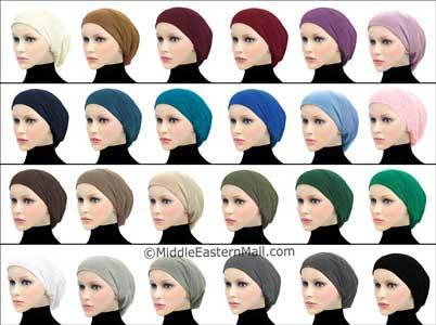 Wholesale 2 Dozen Cotton Snood Large Khatib Underscarf Hijab Caps 24 Colors