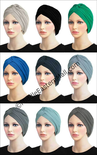 Wholesale Set of 18 Khatib Cotton Classic Turban in 18 Colors Sizes Medium