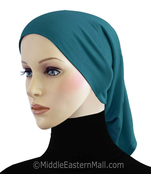 Wholesale Set of 18 Extra Long Cotton Hijab Caps Tubes 1 of each color