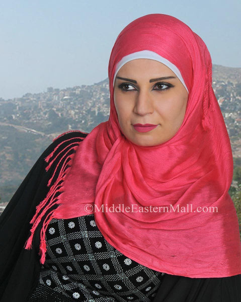 Wholesale One Dozen Large Cotton Silk Shawls - MiddleEasternMall