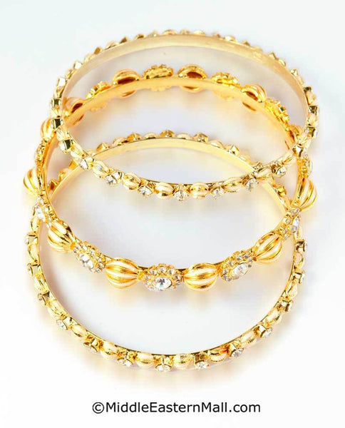 Bangle Bracelets Set of 3 Oro-X Premium Quality Micron Finish #10