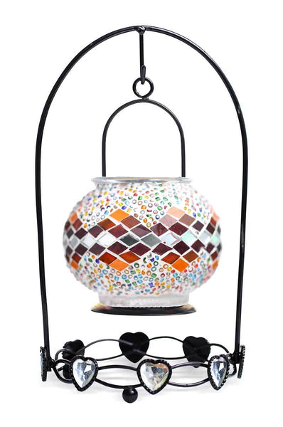 Turkish Candle Lantern - Comes with a FREE Package of Tea Candles