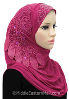Magenta Dream Catcher Amira 1 piece Hijab Headscarf