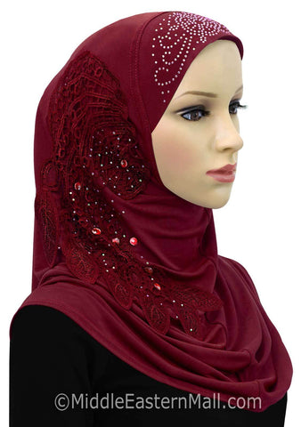 Dream Catcher Amira 1 piece Hijab Headscarf #6 Maroon