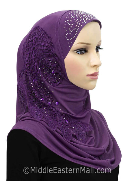 Purple Dream Catcher Amira 1 piece Hijab Headscarf
