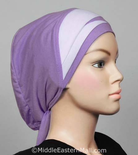 Criss Cross Bonnet Envelope Pleat Hijab Caps