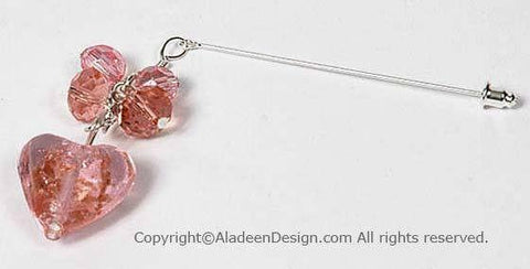 Heart's Desire Hijab Pin # 10 in Pink - MiddleEasternMall