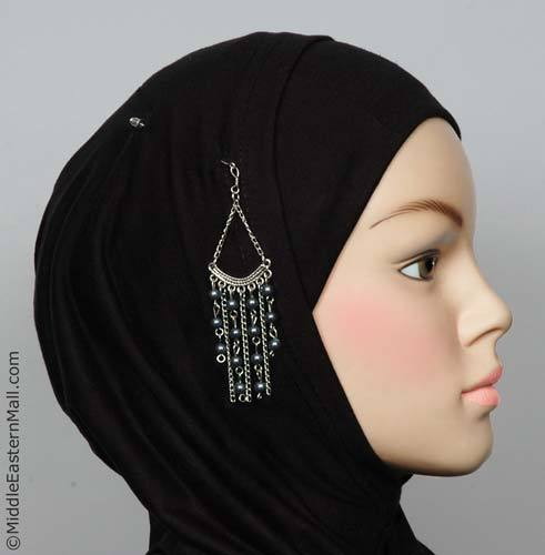 Byblos Fashion Hijab Scarf Pin in #12 Charcoal Gray