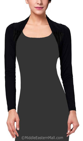 Women's Bolero Shrug in Black
