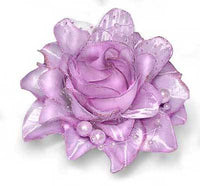 Frosted Rose Clip