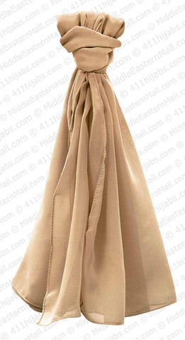 Georgette Square Scarf Hijab in #20 Camel