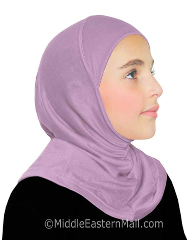 Khatib High Quality Cotton Girl's 1 piece Hijabs #4 Lilac