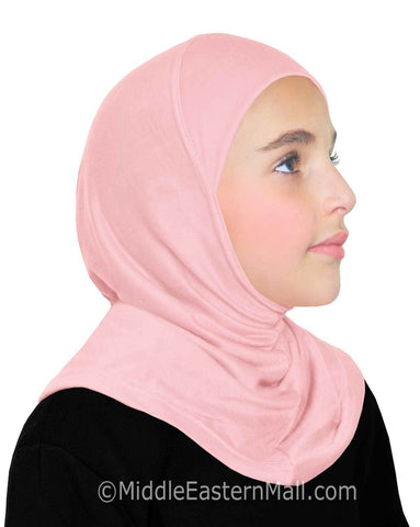 Khatib High Quality Cotton Girl's 1 piece Hijabs #7 Pink