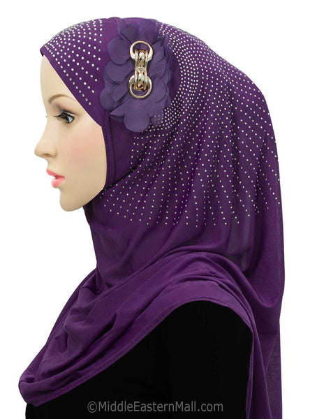 Beautiful Majestic Instant Hijab in # 11 Purple