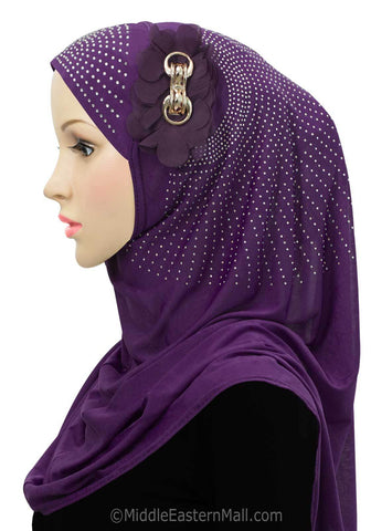 Beautiful Majestic Instant Hijab in #8 Purple