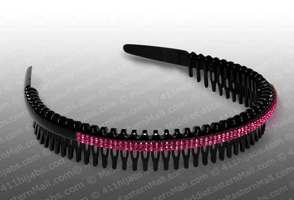 Headband Comb with Rhinestones