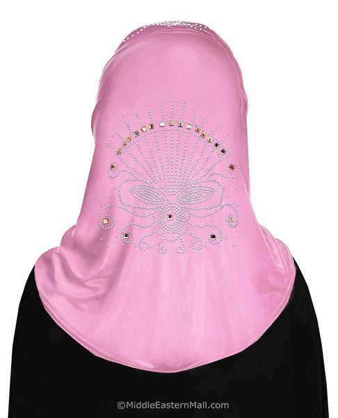 Wholesale Set of 10 Girl's Heba Hijabs in 10 Different Assorted Colors