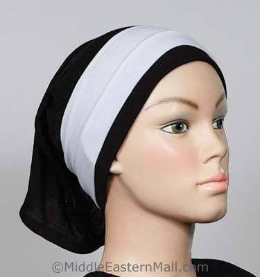 One dozen Classic poly headband in 6 White 6 Black - MiddleEasternMall
