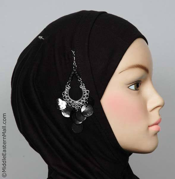 Rayyan Hijab Pin # 12 in Black - MiddleEasternMall