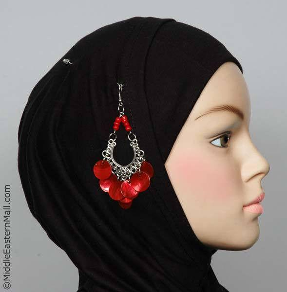 Rayyan Hijab Pin # 4  in Red - MiddleEasternMall