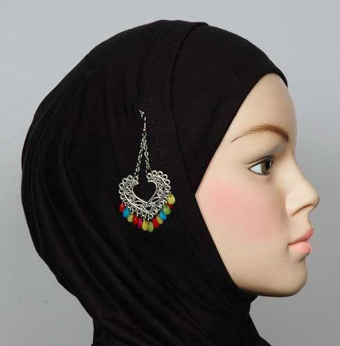 Heart Design Hijab Pin # 3 Multi-Colored - MiddleEasternMall