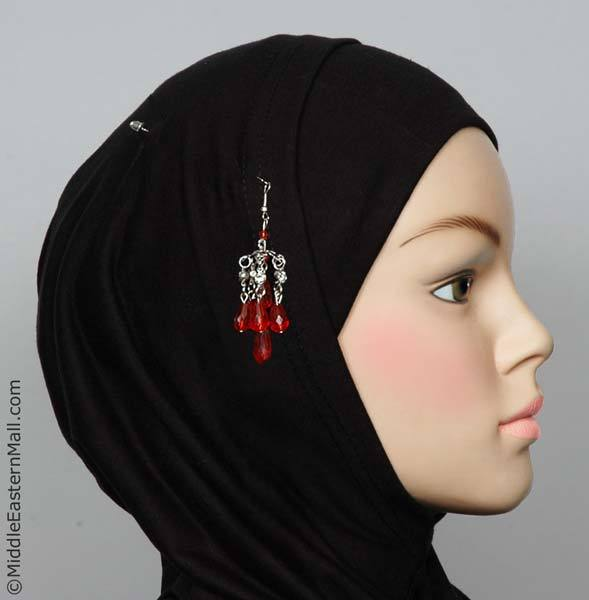 Lustre Hijab Pin in #13 Red