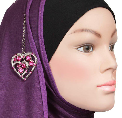 Mona Amour Hijab Pin # 2 in Magenta - MiddleEasternMall