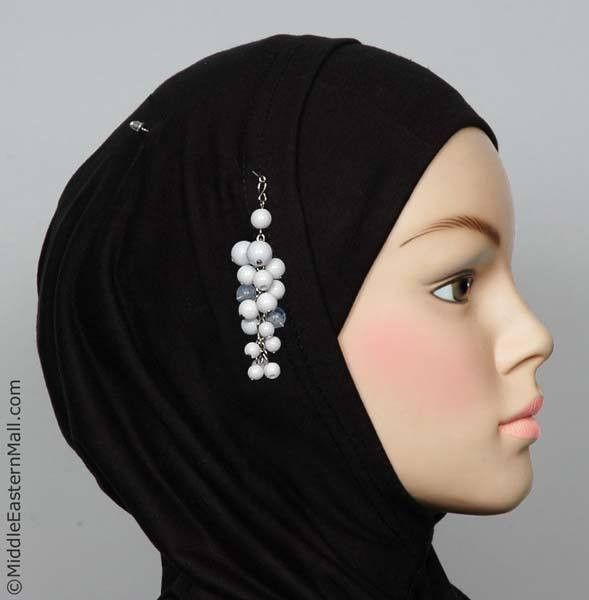 Primicia Hijab Pin # 4 in White - MiddleEasternMall