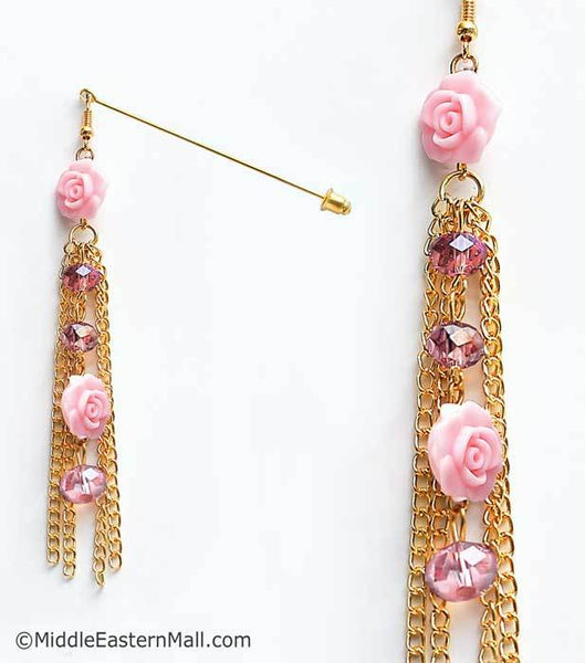 Double Rose Hijab Pin in #20 Pink