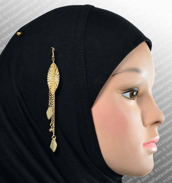 Marquise Hijab Pin # 5 in Gold Tone - MiddleEasternMall