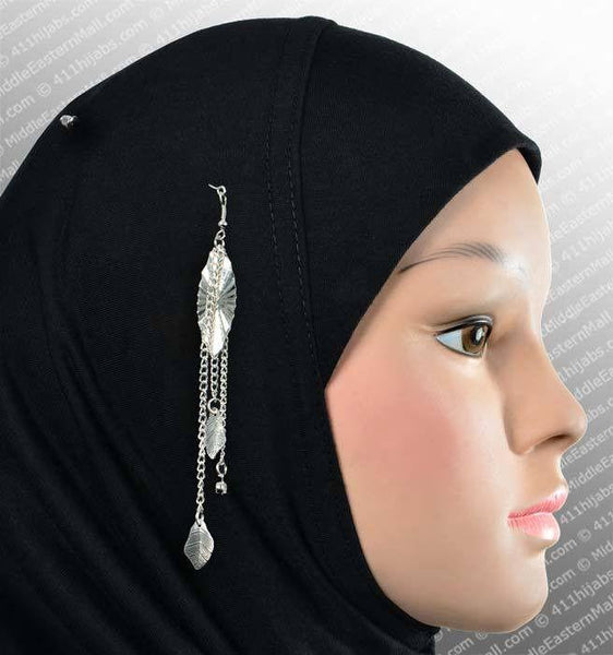 Marquise Hijab Pin # 13 in Silver Tone - MiddleEasternMall