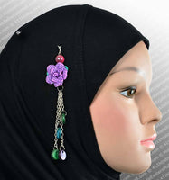 Rose Hijab Pin in #15 Purple