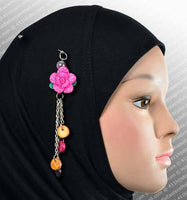 Rose Hijab Pin  # 9 in Pink - MiddleEasternMall