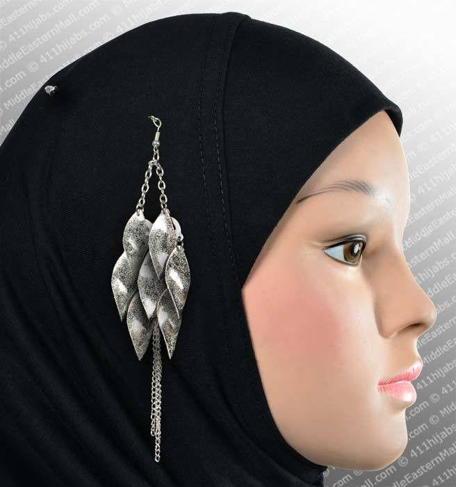 Shimmy Hijab Pin # 4 in Silver - MiddleEasternMall
