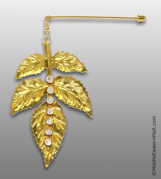 Hijab Pin  Autumn Glory #13 in Gold-tone - MiddleEasternMall
