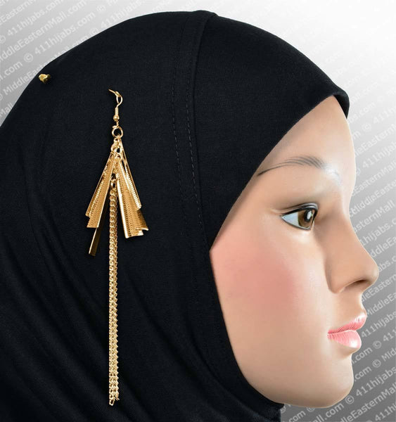 Asuka Hijab Pin # 10 in Gold - MiddleEasternMall
