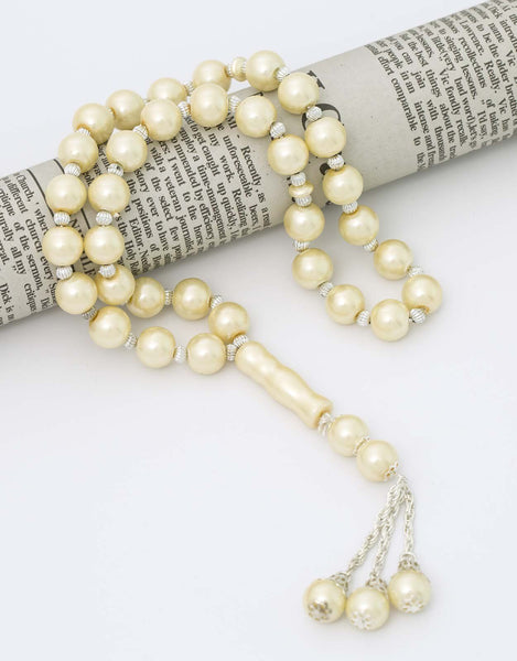 Prayer Beads in Pearlescent Ivory