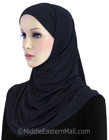Khatib Lycra 2 piece Hijab STANDARD LENGTH in #7 Midnight Blue